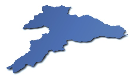 jura: Map of canton Jura- Switzerland Stock Photo