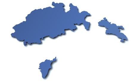 canton: Map of canton Schaffhausen - Switzerland Stock Photo