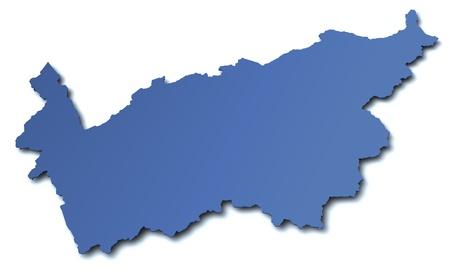 valais: Map of canton Valais - Switzerland Stock Photo