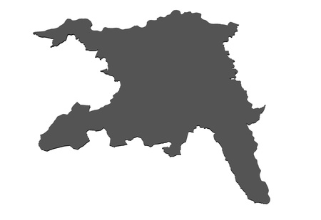 Isolated map of  Aargau - Switzerland photo