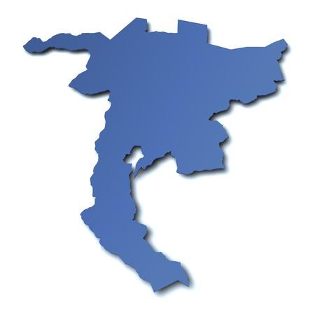 Map of canton Nidwalden - Switzerland photo