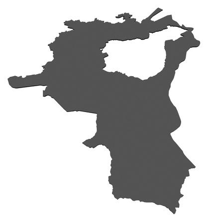 Isolated map of St. Gallen - Switzerland photo