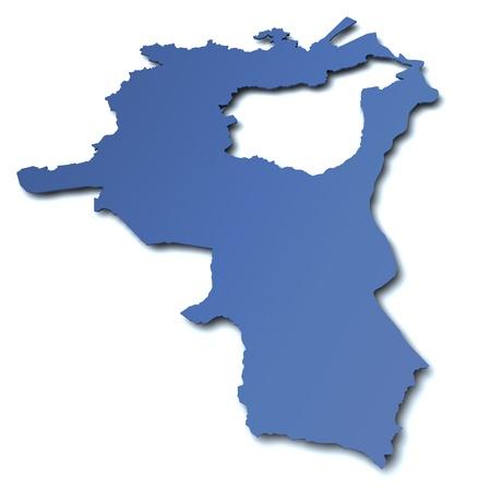 st  gallen: Mapa del cant�n de St. Gallen - Suiza