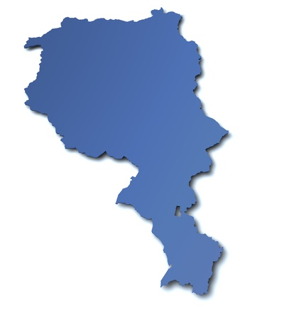 canton: Map of canton Ticino - Switzerland