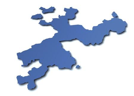 Map of canton Solothurn - Switzerland photo