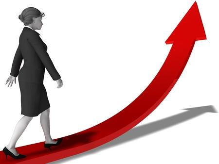 Women Career Planning Standard-Bild