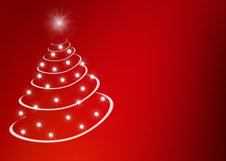 christkind: Abstract christmas tree made by stars Stock Photo