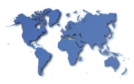 mapa europa: Mapa del mundo Foto de archivo