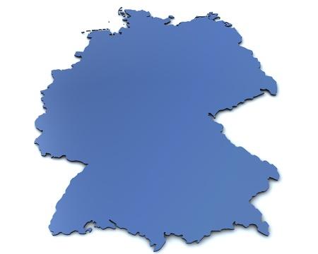 deutschland karte: 3D gerenderten leere Karte von Deutschland