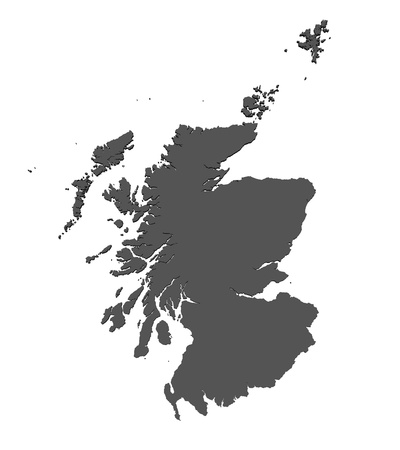 Isolated map of Scotland