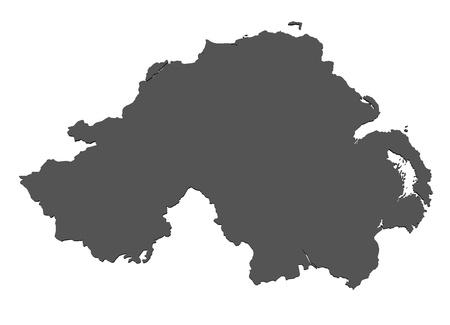 Isolated map of Northern Ireland photo