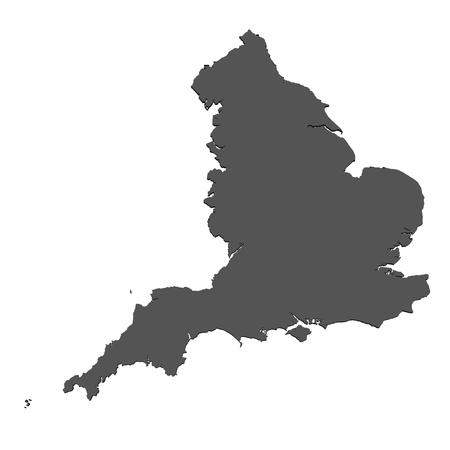 england map: Isolated map of England Stock Photo