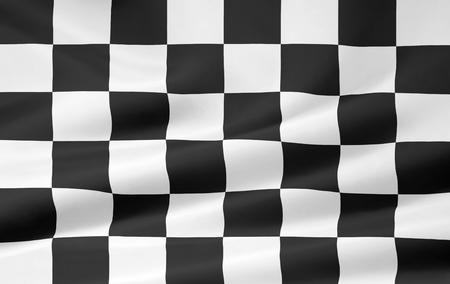 cuadros blanco y negro: Versi�n de alta resoluci�n de una bandera a cuadros Foto de archivo