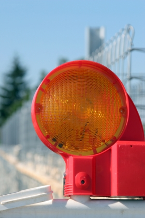 Construction Barrier Light Фото со стока