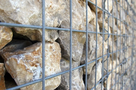 gabion: Gabion Wall Detail