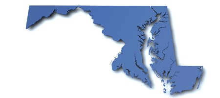 Map of Maryland - USA