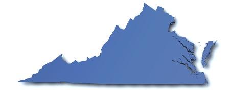 virginia: Map of Virginia - USA