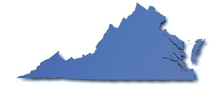 Map of Virginia - USA
