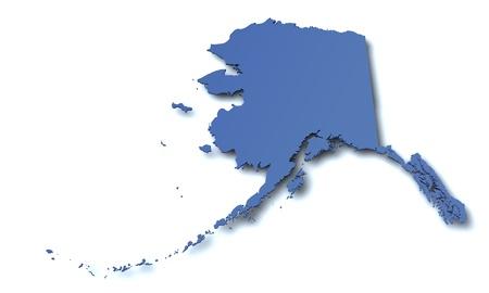 Map of Alaska - USA Stock Photo