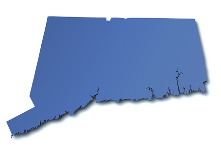 connecticut: Map of Connecticut - USA Stock Photo