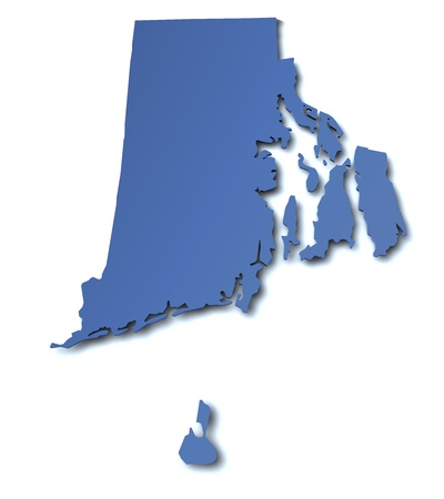 island state: Map of Rhode Island - USA