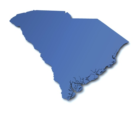 Map of South Carolina - USA Imagens