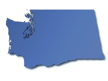 washington state: Map of Washington - USA