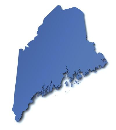 maine: Map of Maine - USA