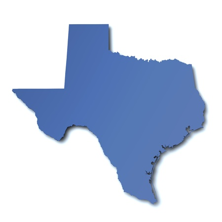 Map of Texas - USA