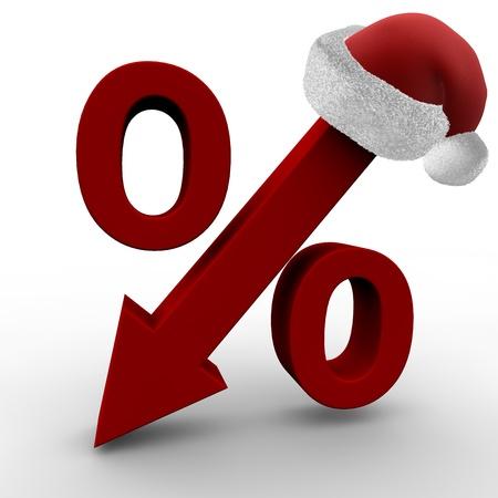 christmas savings: Christmas Sale Stock Photo
