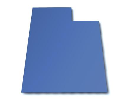Map of Utah - USA photo