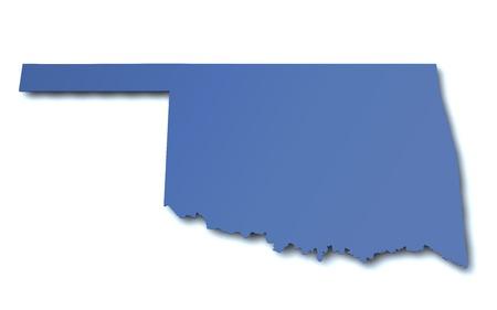 Map of Oklahoma - USA photo