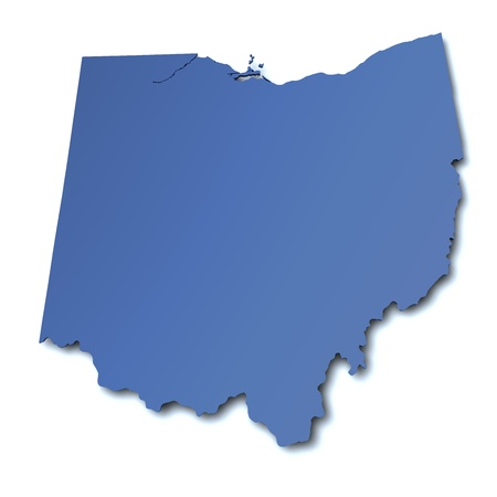 Map of Ohio - USA photo