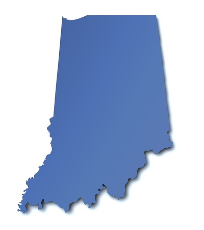 Map of Indiana - USA