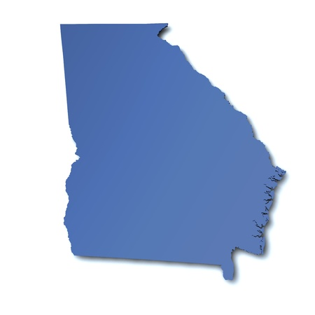 georgia: Map of Gerogia - USA Stock Photo