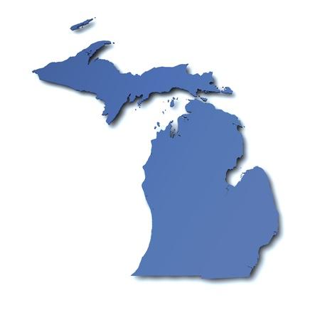 Map of Michigan - USA Stock Photo - 11312399