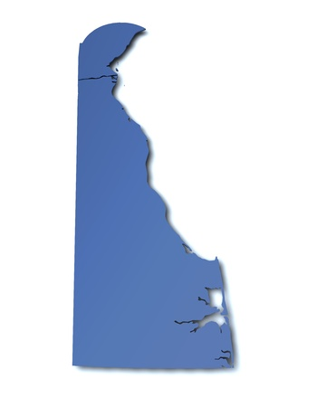 federated: Map of Delaware - USA