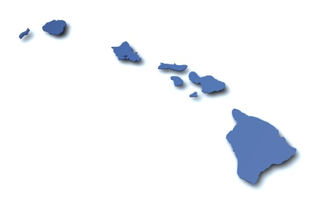 Map of Hawaii - USA