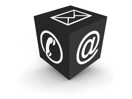iconos contacto: Canales de comunicaci�n - gris Foto de archivo