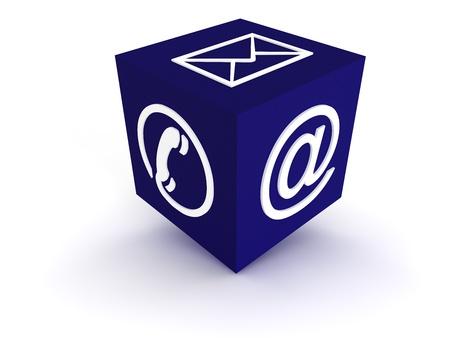 Communication Channels - blue photo
