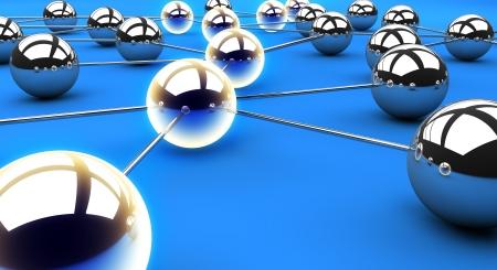Illuminated network path Standard-Bild