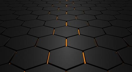 Glowing zeshoek vloer