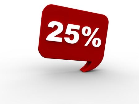 rebate: 25 percent rebate