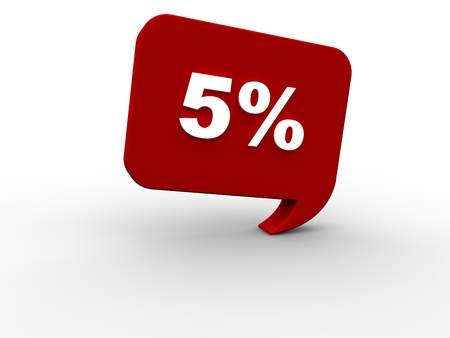 rebate: 5 percent rebate