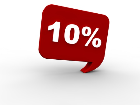 onlineshop: 10 percent rebate Stock Photo