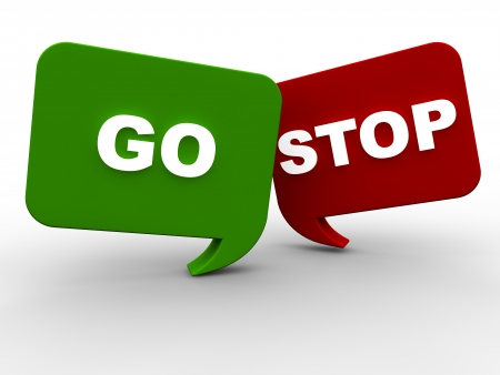 onlineshop: Start and Stop Stock Photo
