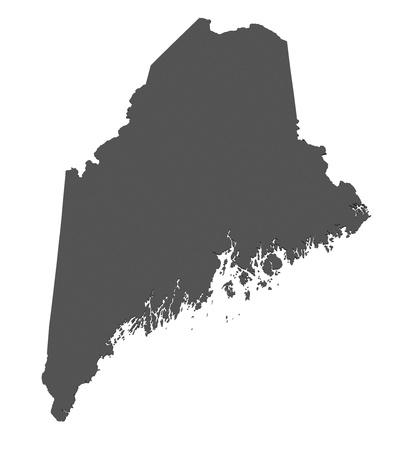 maine: Map of Maine - USA - nonshaded