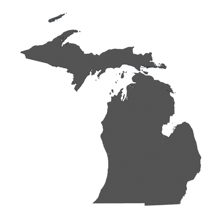 Map of Michigan - USA - nonshaded
