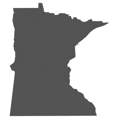 Map of Minnesota - USA - nonshaded photo