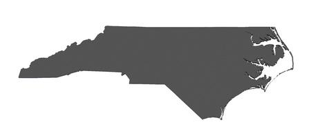carolina: Map of North Carolina - USA - nonshaded